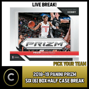 2018-19-PANINI-PRIZM-6-BOX-HALF-CASE-BREAK-B056-PICK-YOUR-TEAM