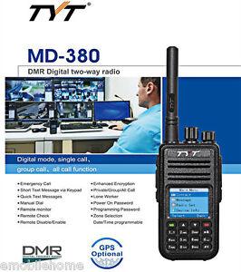 TYT-Tytera-MD-380DMR-Walkie-Talkie-Digital-Dos-Salidas-Radio-UHF-400-480mhz-LCD