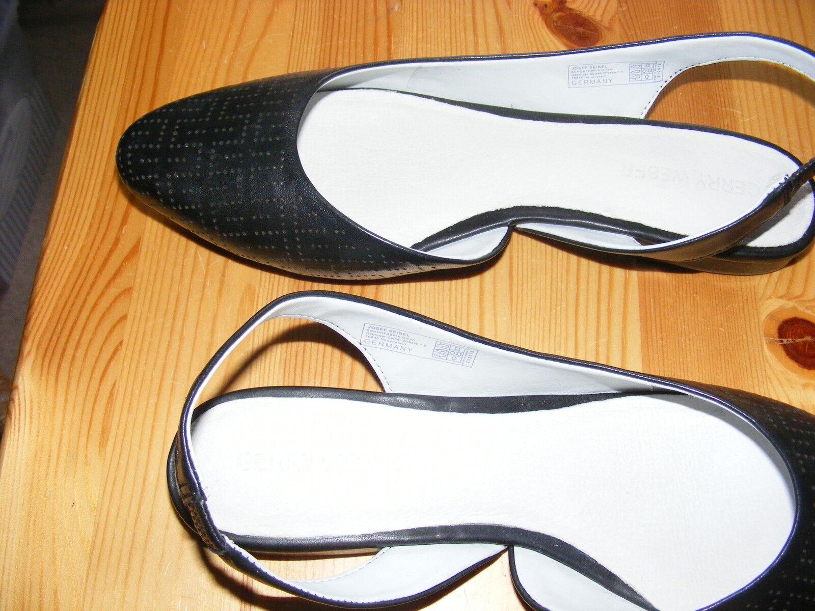 GERRY WEBER Gr. 37 schwarze Sling - Ballerinas Vorne zu NEU - Hinten offen edel NEU zu 581f1e