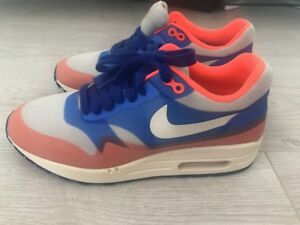 buy online 819b5 7f72b Image is loading Nike-Air-Max-90-Neon-Orange-Blue-Size-