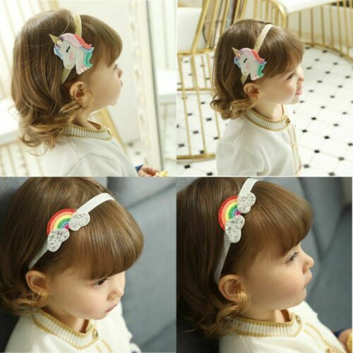 stirnband haarnadel mit wolken kopfbedeckung baby einhorn regenbogen