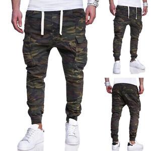 Nuevo Para Hombre Skinny Cordon Camo Pants Slim Fit Pantalon De Ejercito Cargo Pantalones Informales Ebay