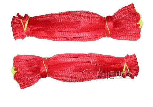 40CM 100p Reusable Plastic Mesh Net Bags with Draw String Seafood boil Shellfish