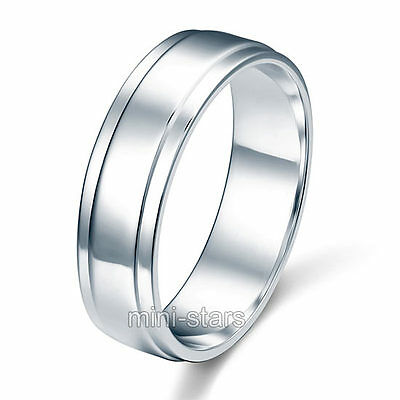 Sterling 925 Silver High Polished Men's Wedding Band Ring FR8055