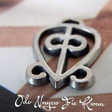Set of 10 -Odo Nnyew Fie Kwan- Adinkra Pewter Charms
