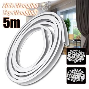 Details About 5m Flexible Ceiling Mounted Curtain Track Rail Straight Slide Windows Balcony