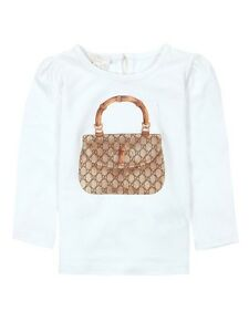 bc305efbd81e Details about NWT NEW Gucci Baby Girls pink or white bamboo tee shirt 0 3  3 6 6 9 9 12 265356