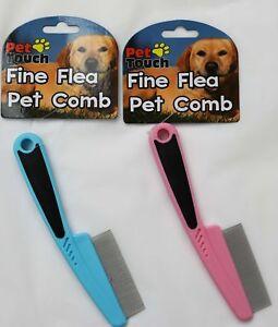 Mascota Pulgas Tic Peine Fino Para Perros Gatos Etc Rosa Azul Ebay