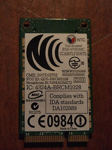 Details about Genuine Broadcom BCM94312MCG PCI-E wireless card