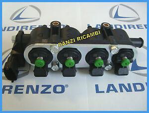 RAIL-COMPLETO-4-INIETTORI-TAPPO-VERDE-IMPIANTO-LANDI-RENZO-GAS-GPL-MED-ORIGINALE