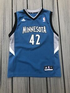 lowest price so cheap great deals 2017 Details about Adidas Boy's Sz M NBA Minnesota Timberwolves #42 Kevin Love  Replica Jersey ~Blue