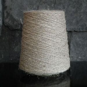 Details About Thick Pure Linen Weaving Yarn 500g Cone Natural Flax Rug Warp Vintage Rustic