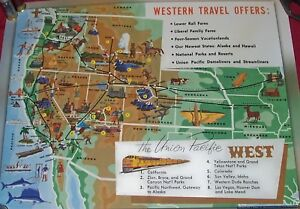 f5a090eb700eb Details about Union Pacific West Line Map Poster Time Tables Old Walthers  Railroad Train UP RR