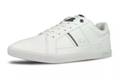 Lacoste Men/'s White Europa Leather Trainers Brand New Boxed free UK RM24 Deliver