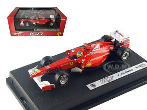 FERRARI-F2011-150-ITALIA-5-FERNANDO-ALONSO-2011-1-43-MODEL-CAR-HOTWHEELS-W1075