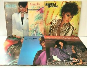 Angela-Bofill-Lot-of-6-Vinyl-Record-Albums-Something-About-Angel-Night-STERLING