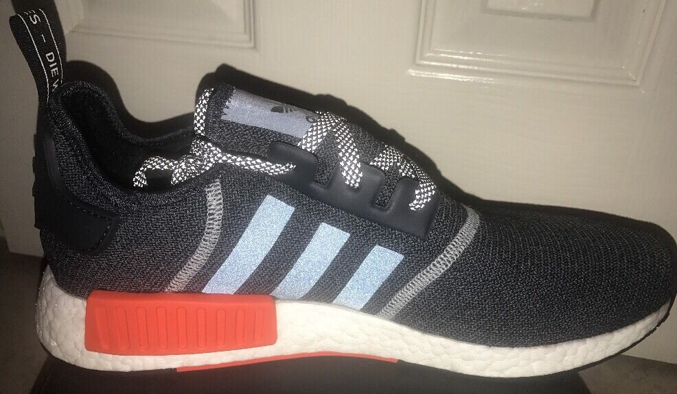 5c2cf849b177e ... New Adidas NMD R1 Grey Red Wool Wool Wool 3M Reflective S31510 Men s Size  13 OG ...