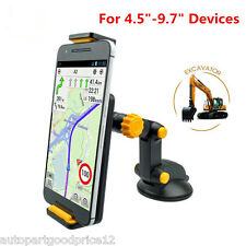 "360° Rotation 4.5"" -9.7"" Car Excavator Style Mobile Phone Ipad GPS Mount Holder"