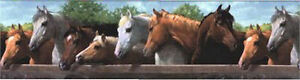Western-Horses-in-Corral-at-Fence-Wallpaper-Border-by-YORK-BH1802B