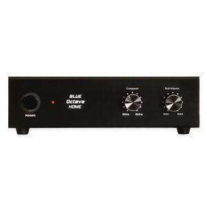 blue octave b1000s active subwoofer amplifier for home theater passive sub ebay. Black Bedroom Furniture Sets. Home Design Ideas