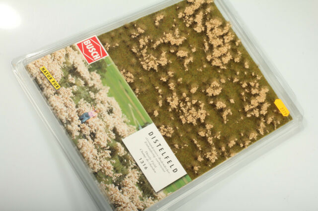 H0 Busch 1316 Thistle Field not Used Schrankfund Packaging with Flaws