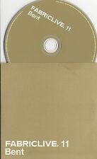 FABRICLIVE 11 Bent UK 17-track promo mix CD Giorgio Moroder Mr Scruff Jean Carn