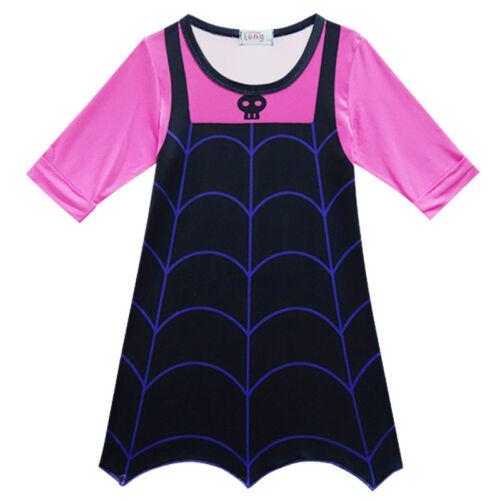 Kids Girls Vampirina Dresses Princess Party Fancy Dress Cosplay Costume Outfits