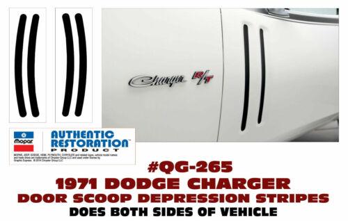 R//T DOOR SCOOP DEPRESSION DECAL KIT GE-QG-265 1971 DODGE CHARGER