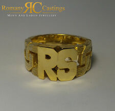 Celtic Design 2 Letters  Initial Jewellers Bronze Ring Dipped in 9 or 18ct Gold