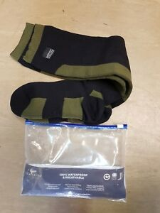 British Army-Issue Black Sealskinz Combat Socks Foot Size 8 Large Knee Length