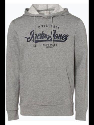 Sz Large BNWT Jack /& Jones Men/'s Jormillion Sweat Noos Hoodie Grey