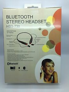 LOT-OF-10-NEW-BLUETOOTH-STEREO-HEADSET-HBS-730-AROUND-THE-NECK-MIXED-OF-4-COLORS