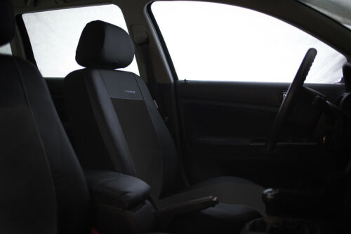 Kunstleder Sitzbezüge Sitzbezug Schonbezüge für Hyundai Tucson Schwarz Set