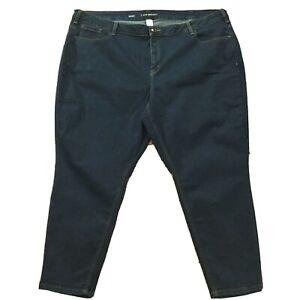 Lane-Bryant-Womens-Jeans-size-28-Short-x28-034-Dark-Wash-Slim-Skinny-Cotton-Stretch