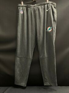 MIAMI DOLPHINS NIKE TEAM ISSUED NEW DRI-FIT PANTS W/ POCKETS 90.00 TAGS SIZE 2XL
