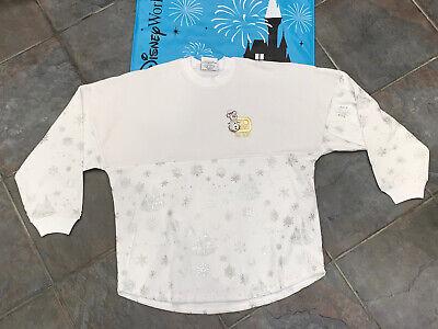 Disney Disneyland Castle White Velour Christmas Spirit Jersey XS S M L XL 2XL
