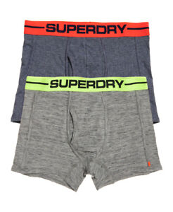 Superdry Grey Navy Sport Boxer Four Pack