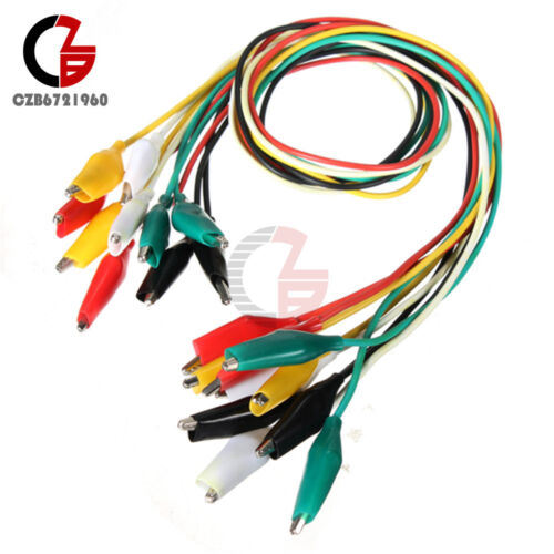 20PCS 50cm Double-ended Crocodile Clips Cable Alligator Clips Wire testing wire