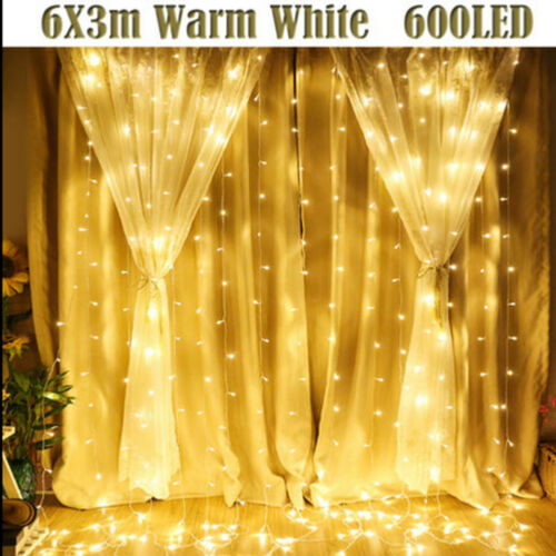 300 LED Fairy Curtain String light for Xmas Christmas Wedding Party Connectable