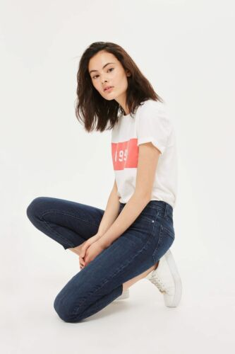top shop jamie indigo jeans size 28 waist leg 30 40/%of retail price only £21.15