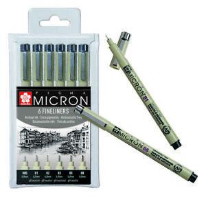 Sakura-Pigma-Micron-Pens-Fineliner-Drawing-Pen-Black-Archival-Ink-Set-of-6