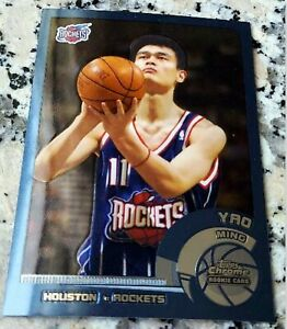 YAO-MING-2003-Topps-CHROME-1-Draft-Pick-Rookie-Card-RC-Rockets-Shanghai-HOF