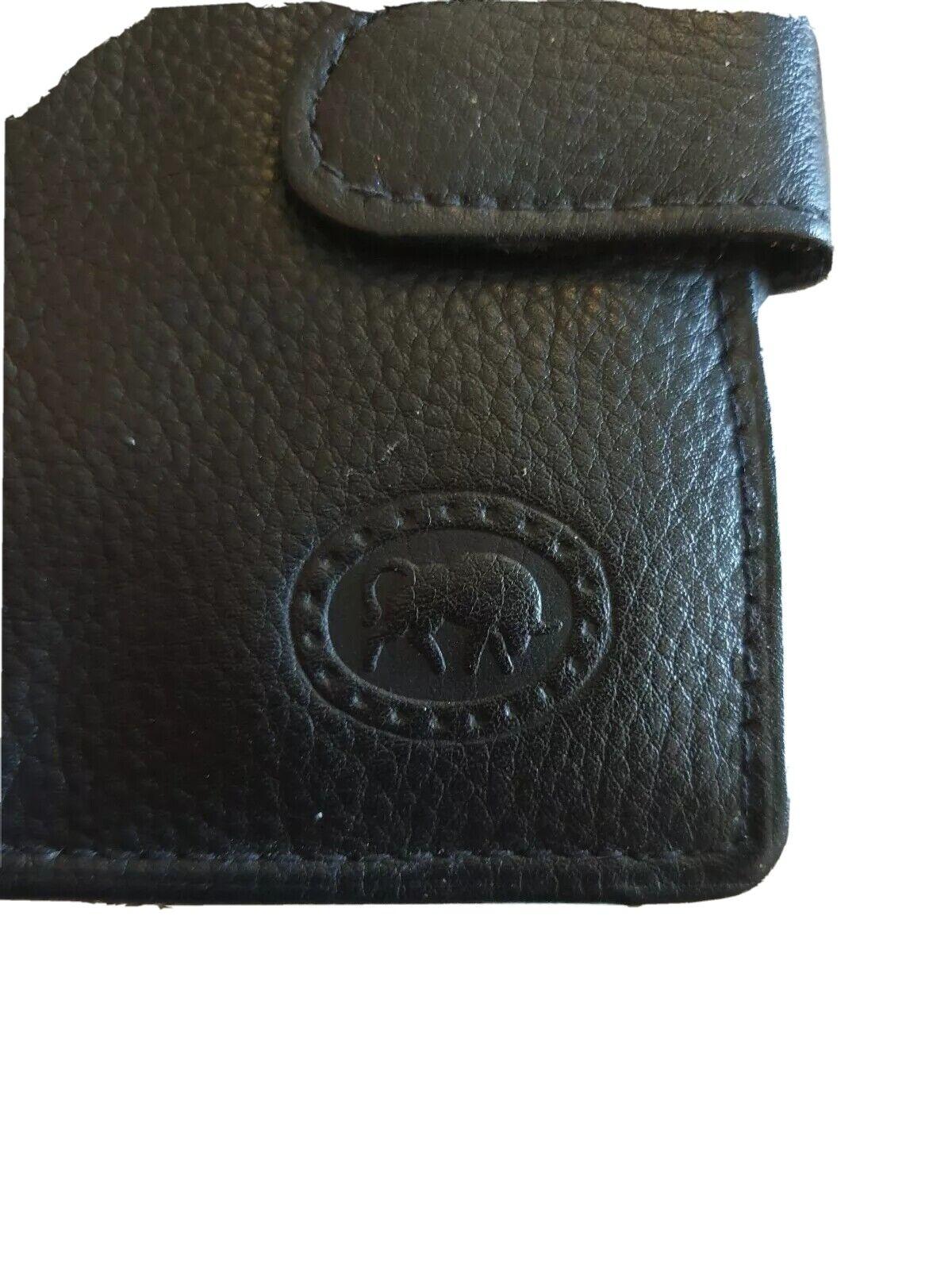 Soft genuine leather Card Wallet ~ Black ~ NWOT