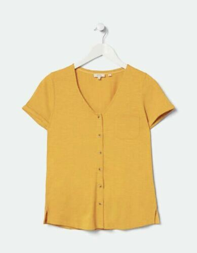 NEUF RRP £ 38 Ex Fat Face Daffodil Annie Bouton Haut