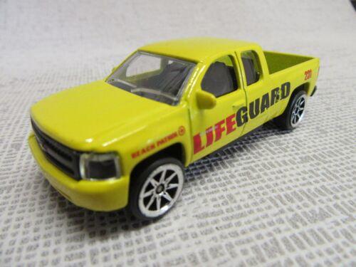 MAJORETTE g3 ® 1//71 Life Guard cevrolet Silverado Pickup giallo senza imballaggio originale nuovo