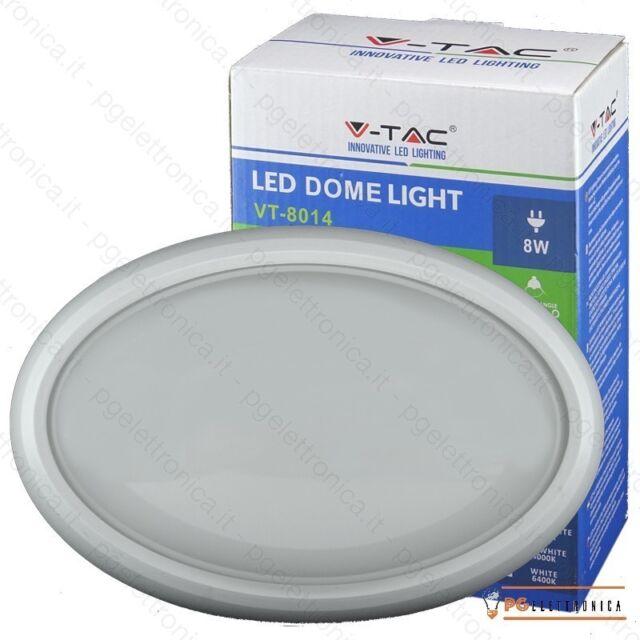 V-TAC VT-8014 PLAFONIERA LED 8W FORMA OVALE COLORE BIANCO