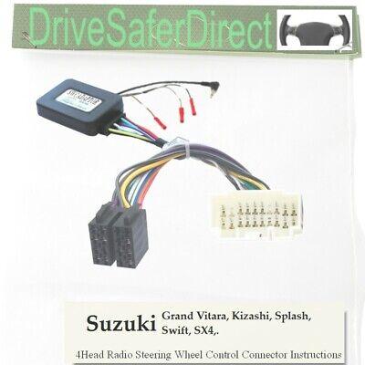 Swift Splash Kizashi JVC Lenkrad Fernbedienung Adapter Suzuki Grand Vitara