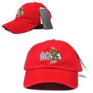 2f3e6510316 ACDC AC DC Logo Rock Band Dad Hat Cap Red Adult Licensed Adjustable ...