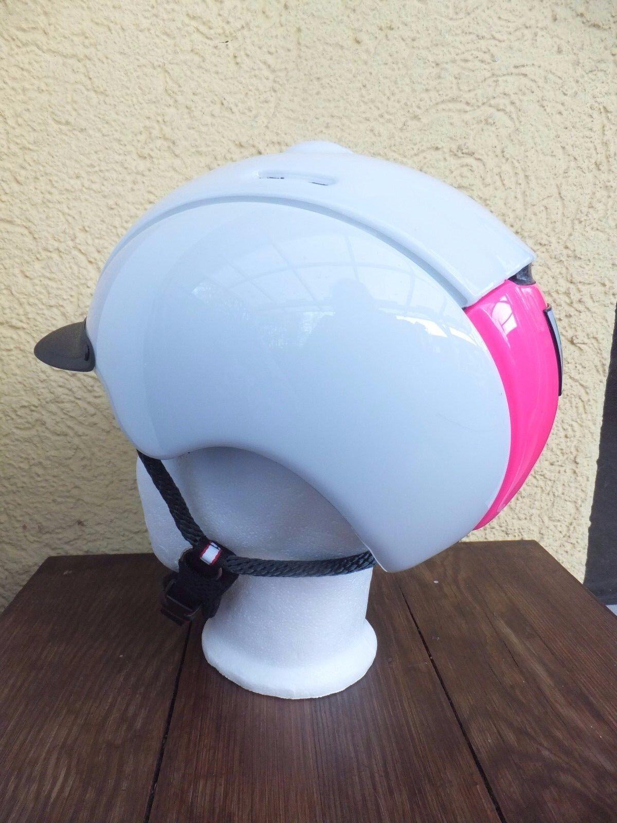 neuer CASCO NORI white glanz pink Reithelm mit VG1.01 Siegel
