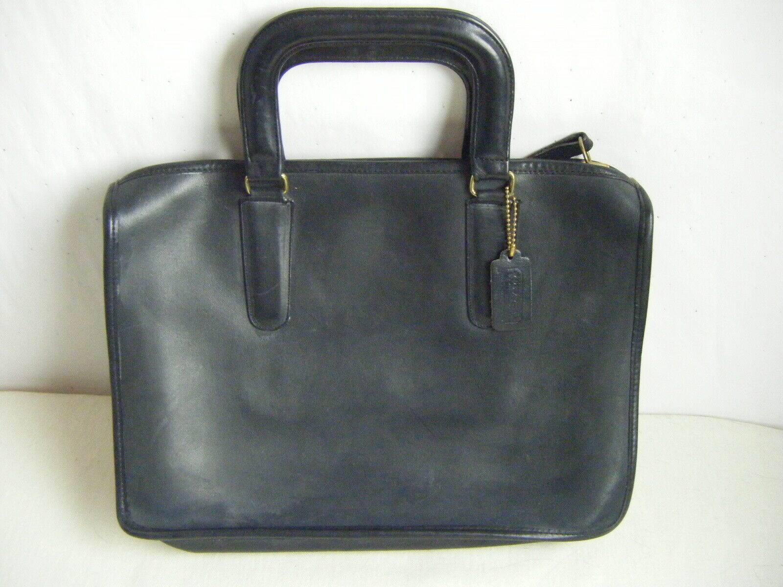 COACH Cashin Vtg 60-70s Black Made in NYC Leather Brifecase